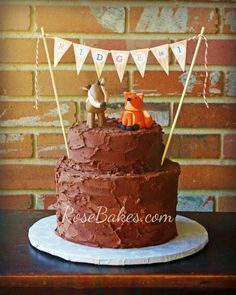 This Woodland Animals Camping Birthday Cake is a perfect example. Description from rosebakes.com. I searched for this on bing.com/images
