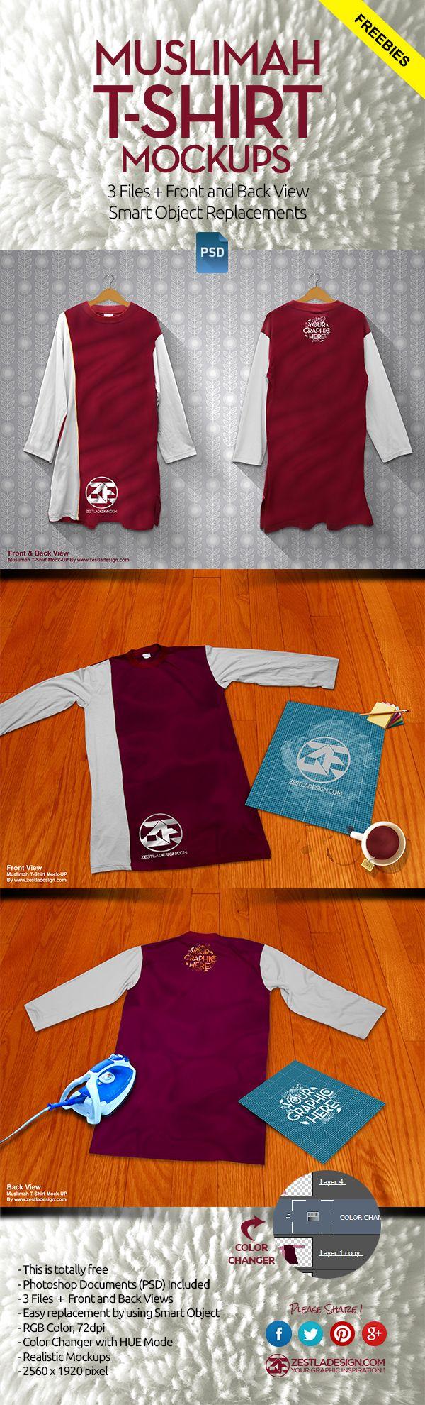 T-Shirt Muslimah Mockup (PREVIEW)