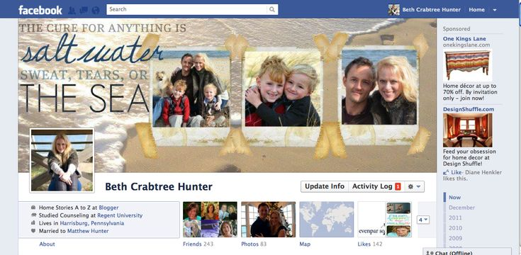 How to Create a Facebook Timeline Cover Photo Template - Home Stories A to Z