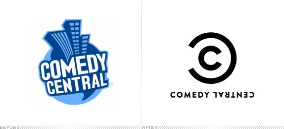 Comedy Central Logo, Before and After