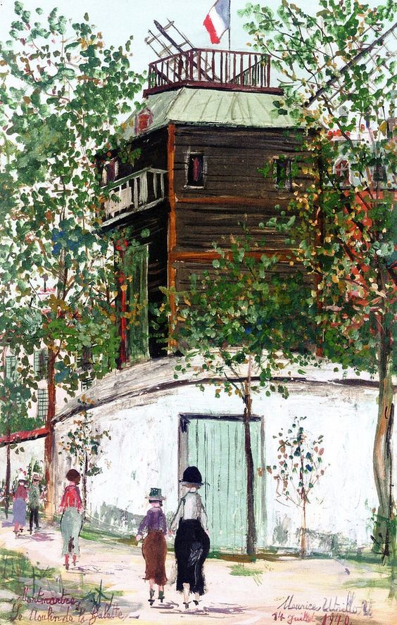 """""""The Moulin de la Galette, Montmartre"""",  Maurice Utrillo"""