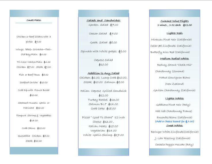 Alizee Restaurant Baltimore Hotel Inn at the Colonnade 443.449.6200 2014 Courtyard Menu