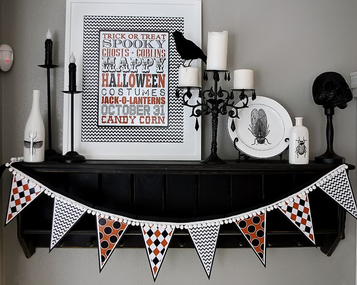 Free printable halloween banner - matches the free halloween subway art!  - halloween decorations
