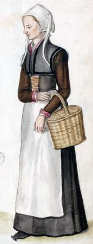 Holland countrywoman by Lucas de Heere, late 16th c. (image source: University of Ghent)