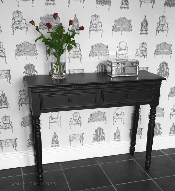 BLACK Belgravia style CONSOLE TABLE / Hall Table shabby/chic in Home, Furniture & DIY, Furniture, Tables | eBay