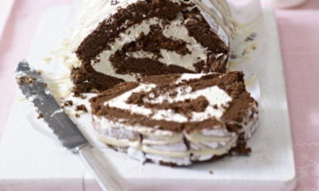 Mary Berry special: Chocolate and Irish cream roulade