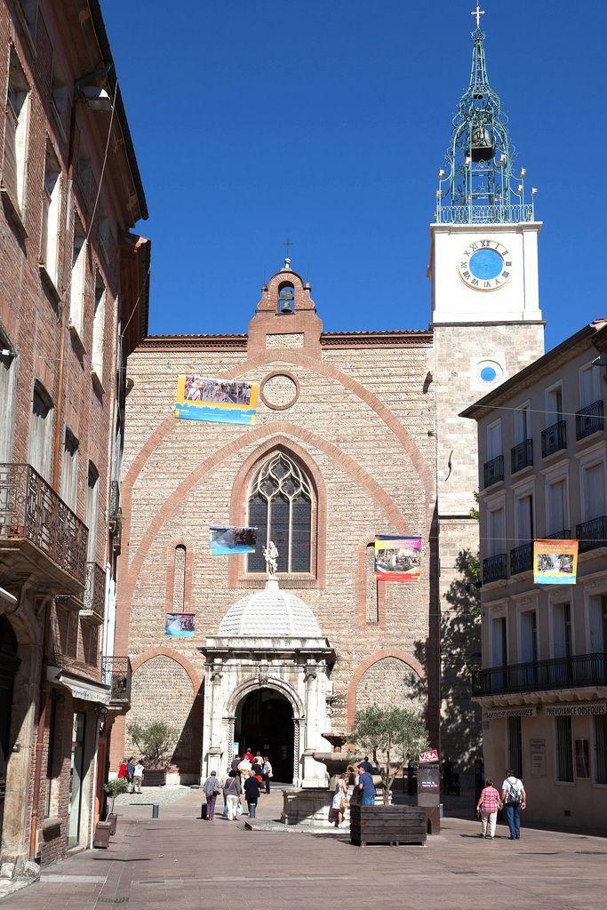 cathédrale Saint-Jean 14e siècle, Perpignan, Pyrénées-Orientales, Languedoc-Roussillon_ France