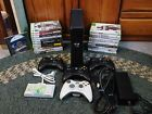 Microsoft Xbox 360 S 4GB Console  4 controllers  22 Games  Extra!!