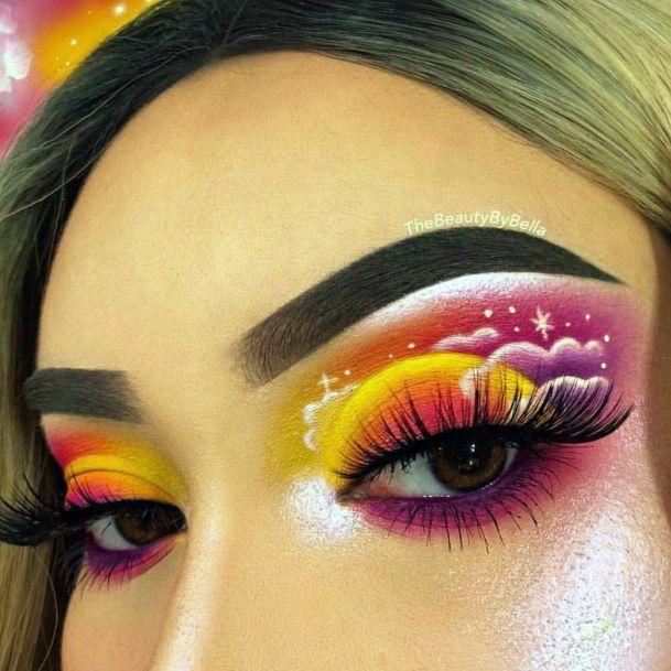 Top 50 Best Unique Eyeshadow Looks For Women Artsy Makeup Ideas In 2020 Eye Makeup Art Shimmer Eye Makeup Creative Eye Makeup