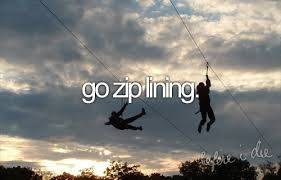 Zip lining is on this list, my bucket list and Alyssa's....I think it is time to cross it off.
