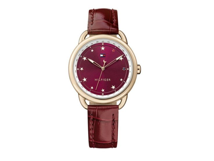 Tommy Hilfiger Lucy TH.178.174.0 Reloj para Dama Color Vino