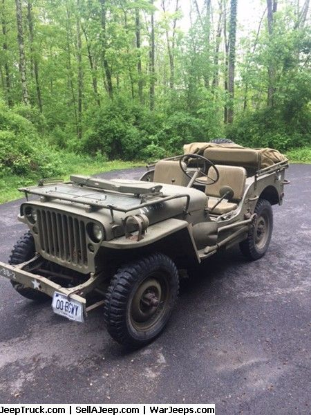 Military Jeeps For Sale and Military Jeep Parts For Sale - Willys MB ORD 12/7/44