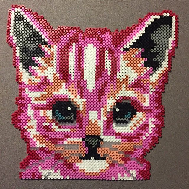 Cat hama perler beads by cille_cer87