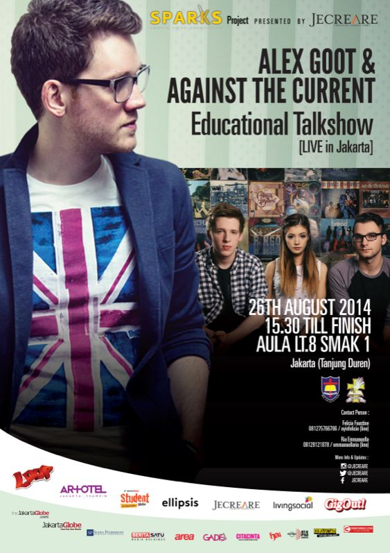 JECREARE presents SPARKS Ignite your Creativity! Aex Goot & Against the Current Feat. Chrissy Costanza Live in Jakarta!