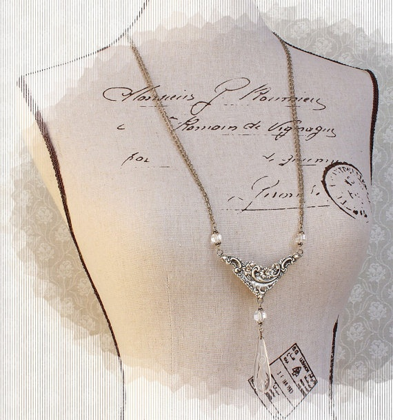 Olympic Crystal Wedding Art Nouveau Victorian by PaulasFavorites, $160.00
