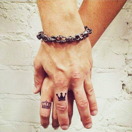 27 tatuagens minimalistas para casais | MdeMulher