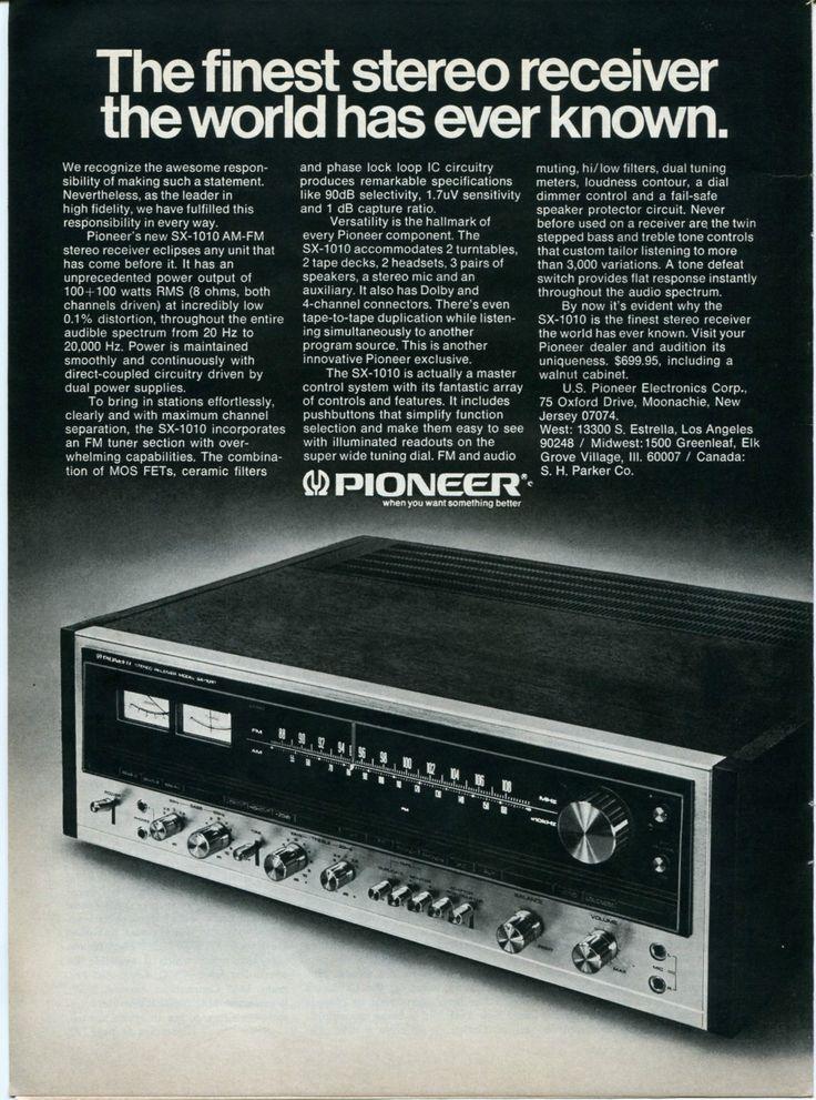 1974 pioneer sx 1010 stereo receiver audio retro vintage. Black Bedroom Furniture Sets. Home Design Ideas
