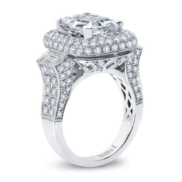 Diamond: Round 1.77 Carat -Baguette .16 Carat (not included 6 Carat center stone) The Solea bridal collection, using the micro-pave technique, represents unsurpassed quality, refinement & detail, ensuring the greatest token of love and commitment.