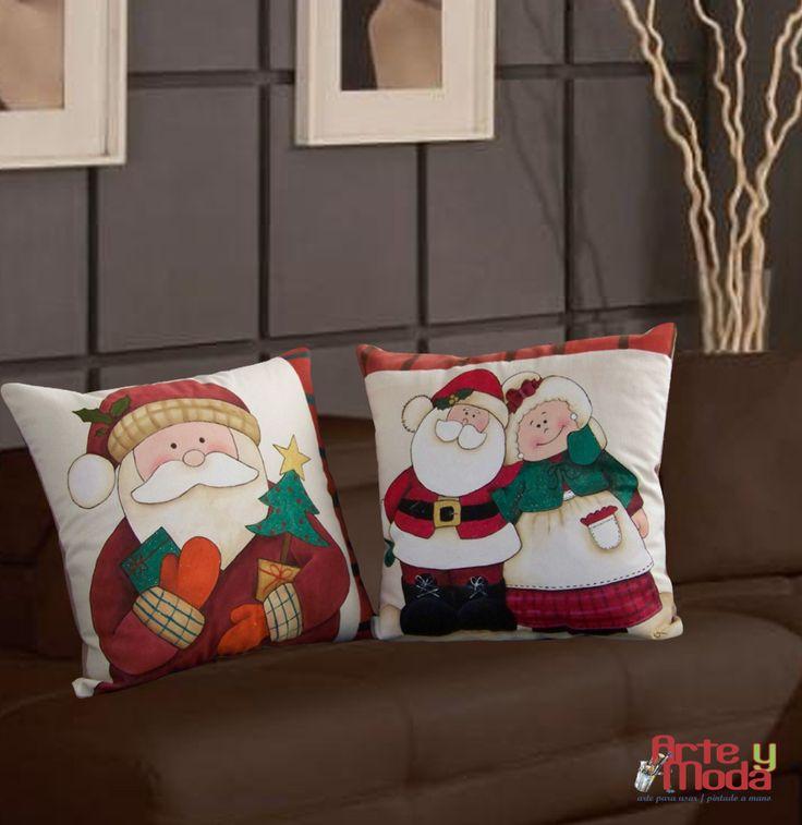 Cojines de navidad Pintados a mano ARTE y MODA CARDONA