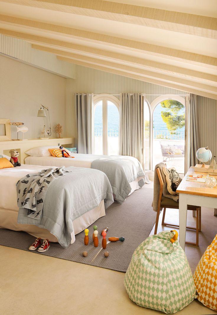 M s de 25 ideas incre bles sobre dormitorios de dos ni as - Decorar habitacion piso compartido ...