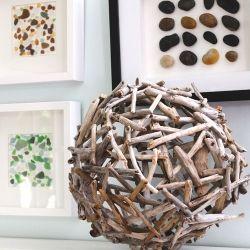 Easy tutorial to use make a drift wood orb.: Ideas, Diy'S, Driftwood Crafts, Orb Tutorial, Beach, Driftwood Orb, Drift Wood