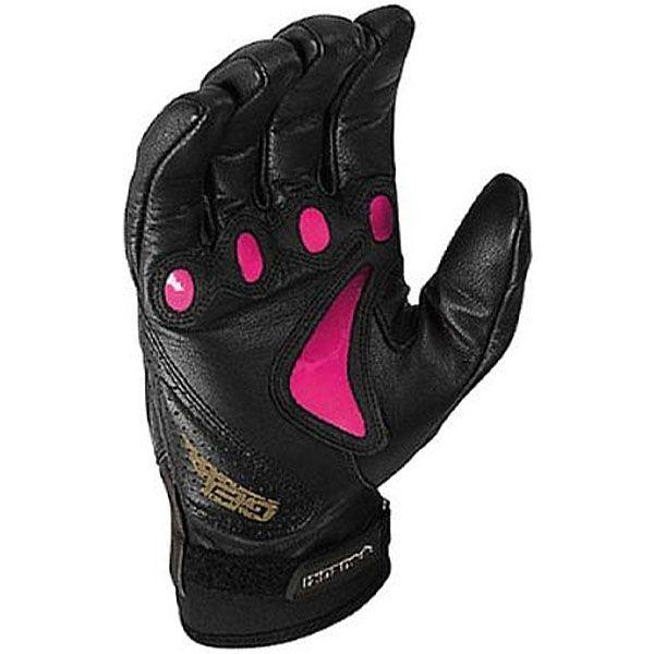 street motorcycle women leather gloves arc suzuki pink palm