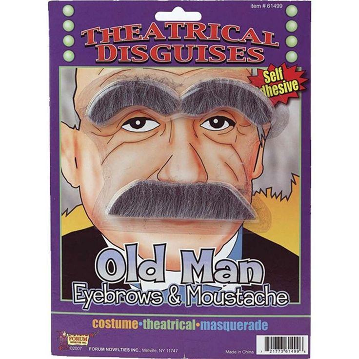 Old Man Eyebrows and Moustache Kit #ForumNovelties