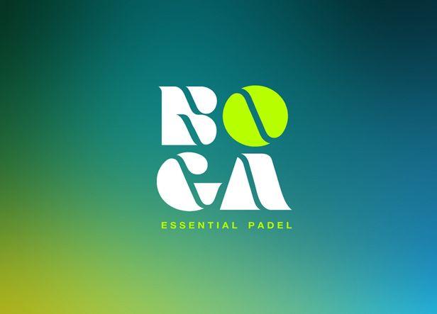 Diseño de logotipo para Boga, una tienda que vende todo tipo de complementos para jugar al padel como raquetas, ropa deportiva, calzado, mochilas y otros accesorios.  Nuestro cliente buscaba una imagen fresca, moderna y elegante para su negocio, que pudiera transmitir cierta idea elitista de su local.