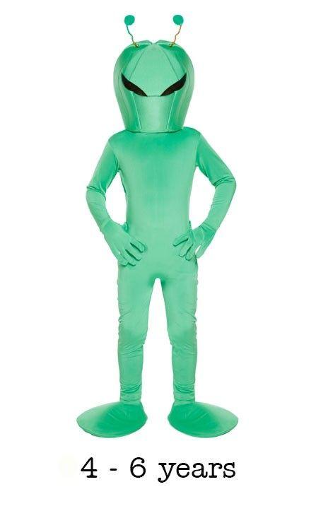 Children's Alien Fancy Dress Costume 4 - 6 yrs