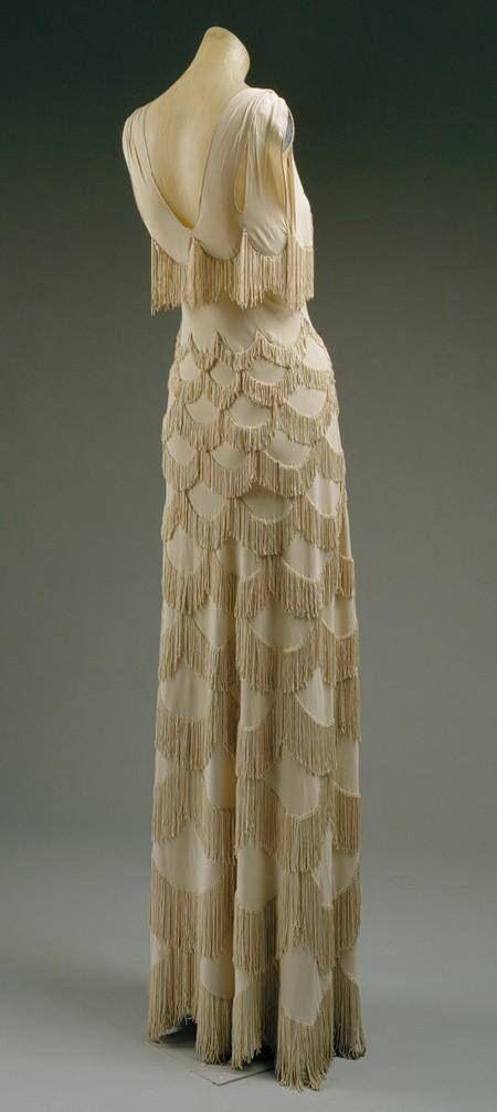 Silk fringe gown 1938