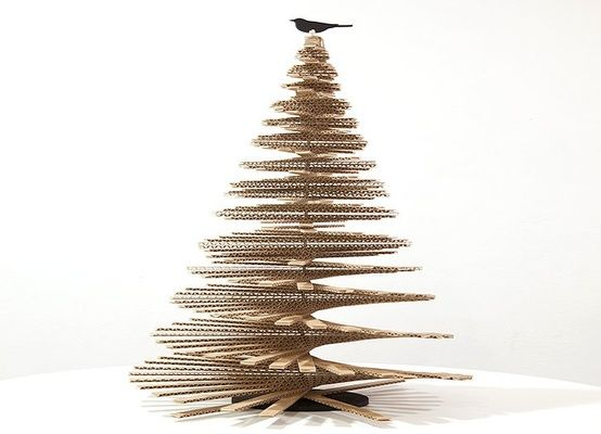 Christmas Tree - born out of recycled cardboard!