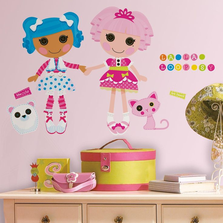 Lalaloopsy peel and stick giant wall decals from birthdayexpress com