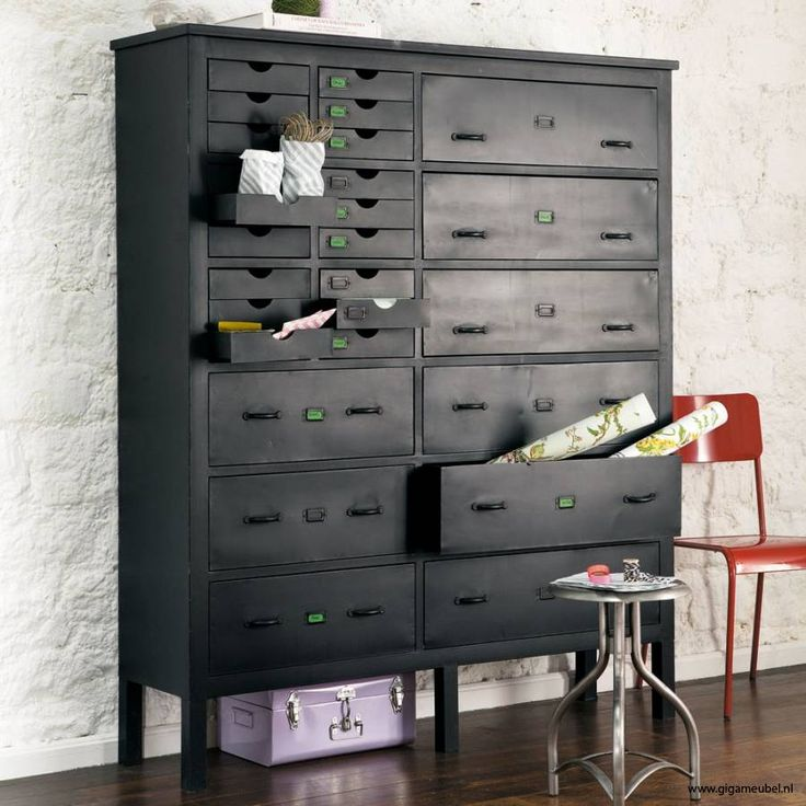 Industrial cabinet with 27 drawers
