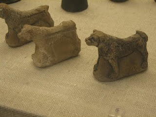Assyrians used to bury figures of dogs under their houses with the belief that the spirits of the dogs might repel the attacks of evil spirits entering into their houses.