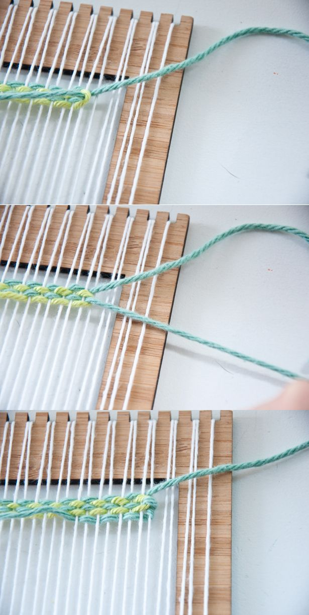 A tutorial on how to weave Vertical Strips | The Weaving Loom #tutorial #weaving