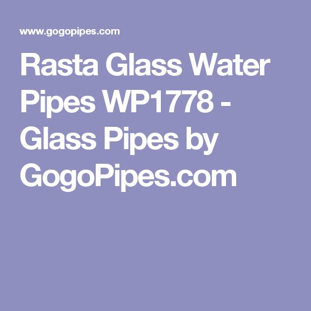 Rasta Glass Water Pipes WP1778 - Glass Pipes by GogoPipes.com