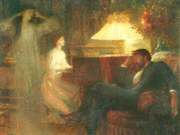 A Reverie by Frank Dicksee (1895)                                                                                                                                                                                 Más