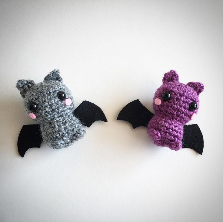 Bats Crochet Amigurumi Plushies @lemonyarncreations