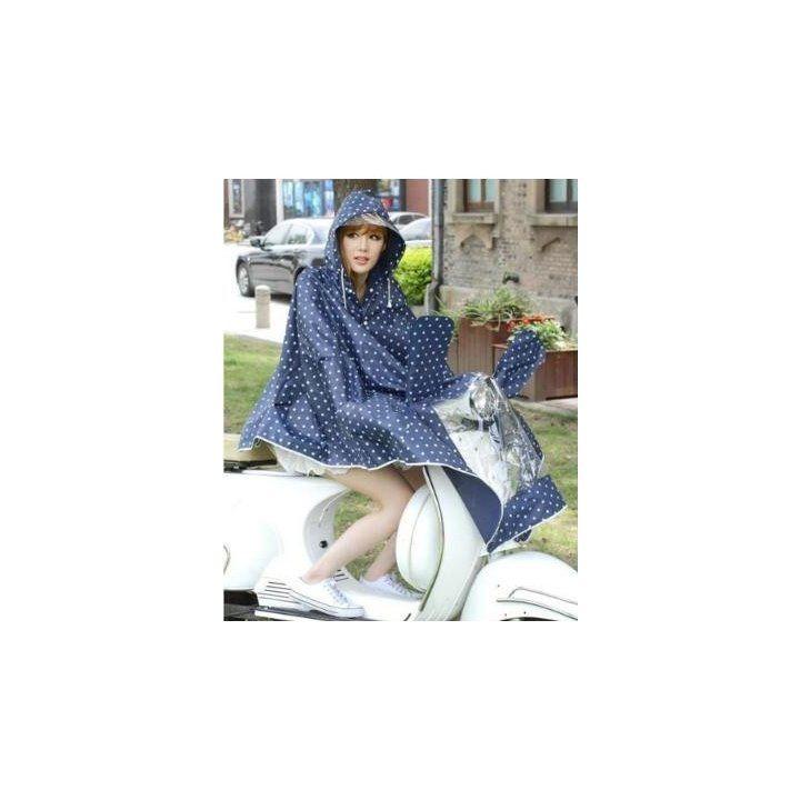 メルカリ商品: 自転車 バイク 用 レインコート レディース ポンチョ 型 ドット 柄 #メルカリ