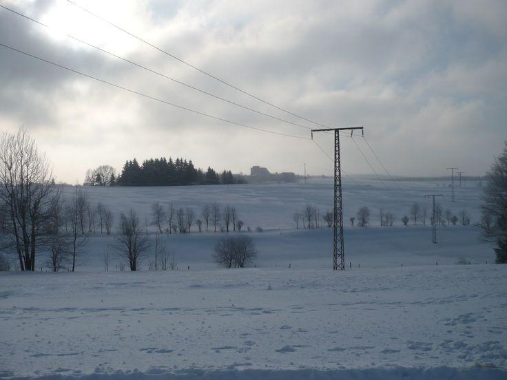 Schnee, so weit das Auge reicht.
