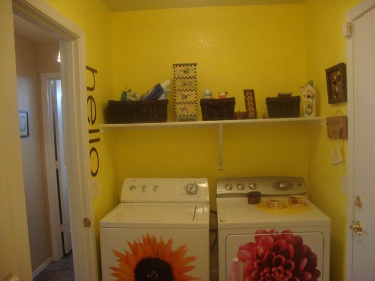 Sunshine Yellow Laundry Room