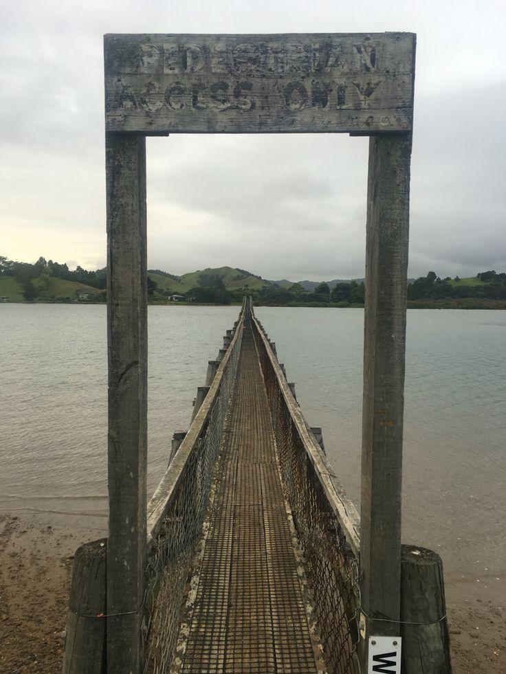 Whananaki Bridge, longest foot bridge in the Southern Hemisphere