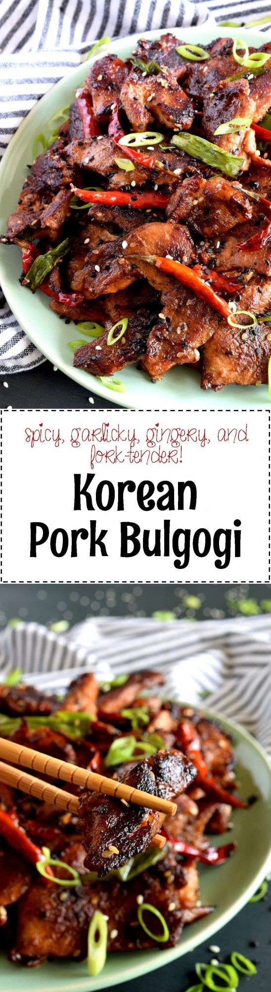 Thinly sliced, marinated cuts of pork, pan-seared to perfection.  Tender, moist, spicy, and full of flavour.  Pork never tasted so good! Many, many moons ago, I posted a recipe to my blog for a vegetarian version of this dish using…