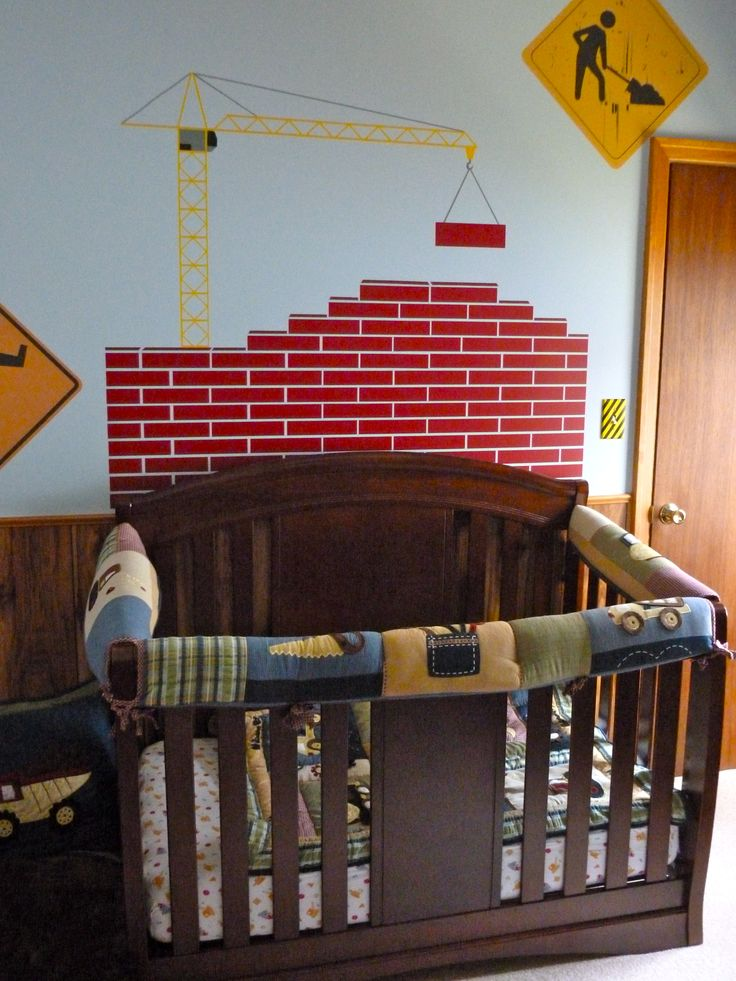 Construction Theme-Boys Room-Use your crib bumpers for Teething Guards