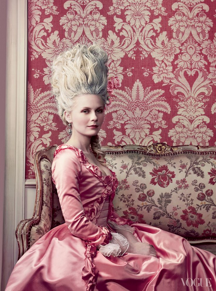 Kirsten Dunst was a perfectly precious Marie Antoinette, in Vogue by Annie Lebovitz.
