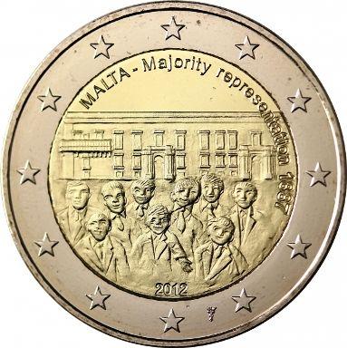 """Moneta Celebrativa """"Rappresentanza maggioritaria 1887""""  Anno: 2012 Stato: Malta"""