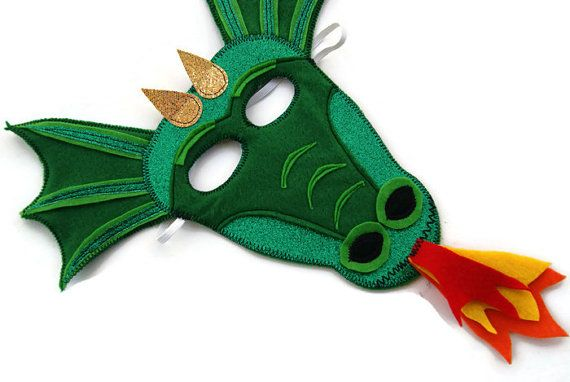 Dragon Mask, Kids Mask, Childs Mask, Childrens Mask, Dress Up, Children's Halloween Costume, Adult Mask