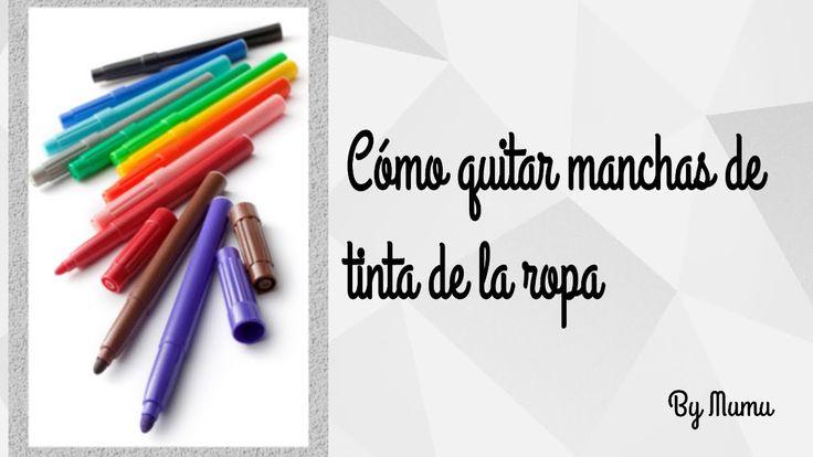Cómo remover manchas de tinta de lapicero fácilmente - Manualidadestv - manualidadesconninos - YouTube