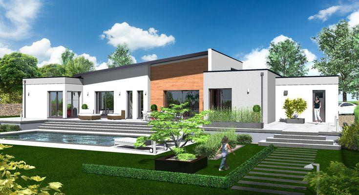 Votre maison design EOS de 158 m² habitables à toit monopente par Habitat Plus