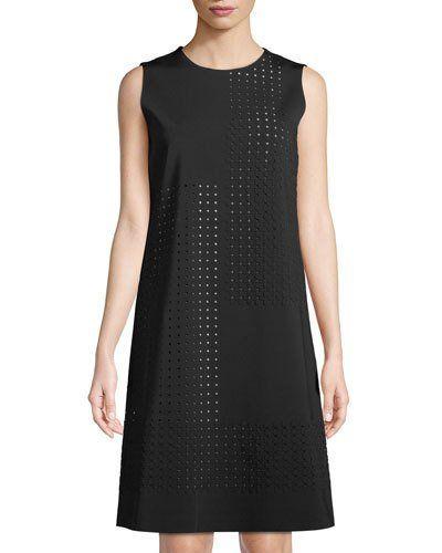 Elias Laser-Cut A-line Dress